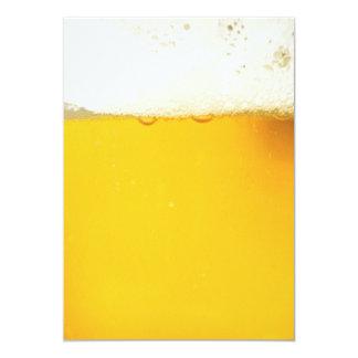 ビール飲むパーティの招待状 カード