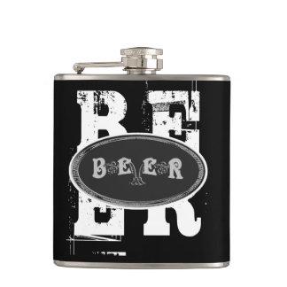 ビール黒及び灰色 フラスク