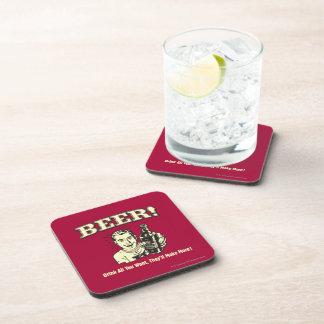 ビール: すべてをほしいと思います作ります飲んで下さい コースター