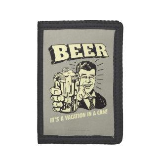 ビール: それは休暇できますです ナイロン三つ折りウォレット