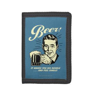 ビール: それは倍を見させます ナイロン三つ折りウォレット