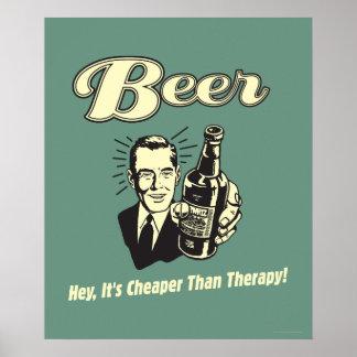 ビール: ちょっとそれはセラピーより安いです ポスター