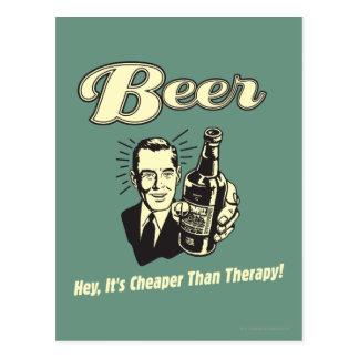 ビール: ちょっとそれはセラピーより安いです ポストカード