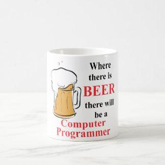 ビール-コンピュータ・プログラマー--があるところ コーヒーマグカップ