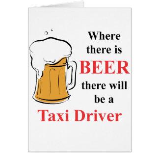 ビール-タクシー運転手--があるところ カード