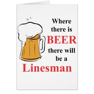 ビール-ラインズマン--があるところ カード