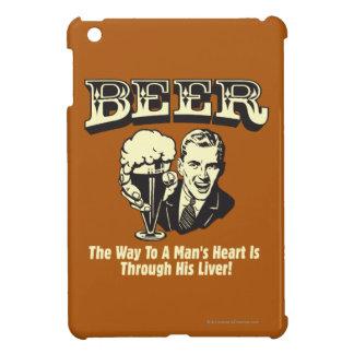 ビール: 方法はレバーを通してハートに人を配置します iPad MINIケース