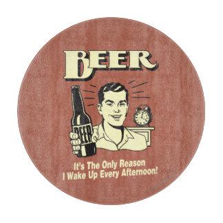 ビール: 理由だけ私は午後を目覚めます カッティングボード