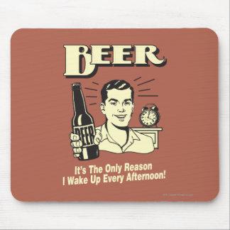 ビール: 理由だけ私は午後を目覚めます マウスパッド