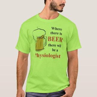 ビール-生理学者--があるところ Tシャツ
