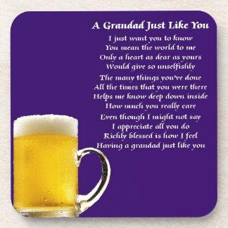 ビール-祖父の詩 コースター