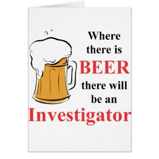 ビール-調査官--があるところ カード