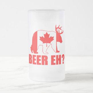 ビールEHか。  おもしろいなカナダくまのシカのビールのジョッキ フロストグラスビールジョッキ