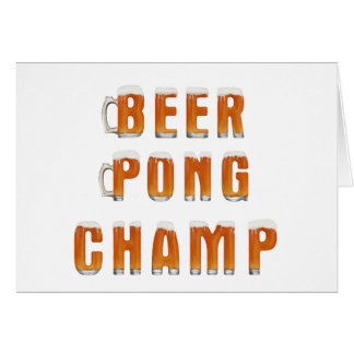 ビールPongのチャンピオン カード