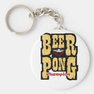 ビールPongのチャンピオン キーホルダー