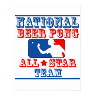 ビールPongの国民チーム ポストカード