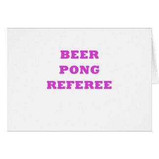 ビールPongの審判員 カード
