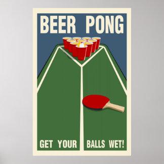 ビールPong:  あなたの球をぬれた得て下さい! ポスター