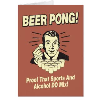 ビールPong: 証拠アルコール及びスポーツの組合せ カード