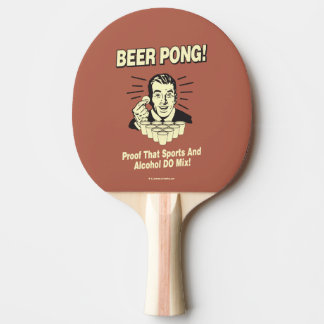 ビールPong: 証拠アルコール及びスポーツの組合せ 卓球ラケット
