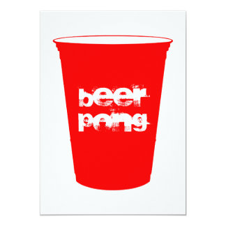 ビールpong: 赤いパーティーのコップ カード