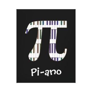 ピアノおもしろいなPiピアノ音楽ギークのキャンバス キャンバスプリント