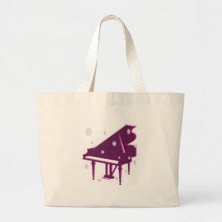 ピアノおよび雪片 ラージトートバッグ