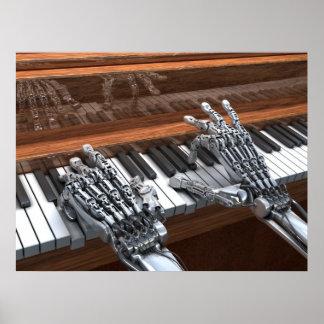 ピアノで遊ぶロボット ポスター