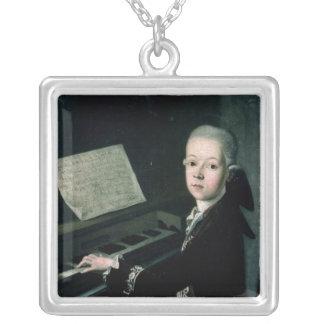 ピアノのカールのグラーフのFirmianポートレート シルバープレートネックレス