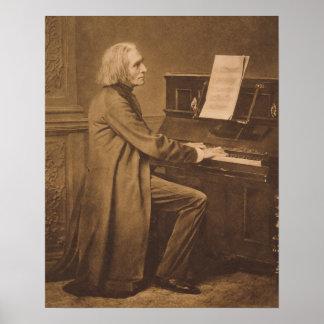 ピアノのフランツ・リスト ポスター