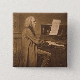 ピアノのフランツ・リスト 缶バッジ