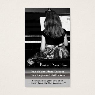 ピアノのレッスンおよび音楽の先生 名刺