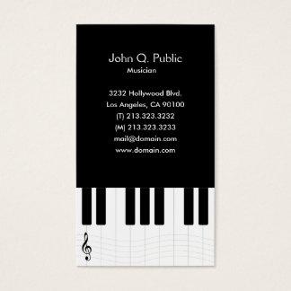 ピアノのレッスンの先生の個人教師 名刺