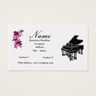 ピアノの教師か販売のグランドピアノ 名刺
