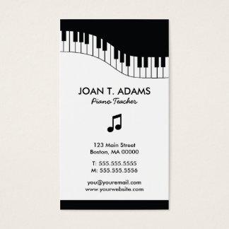 ピアノの教師のキーボードの音楽業界カード 名刺