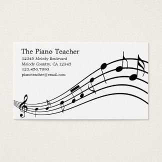 ピアノの教師のピアニストのミュージシャンの名刺 名刺