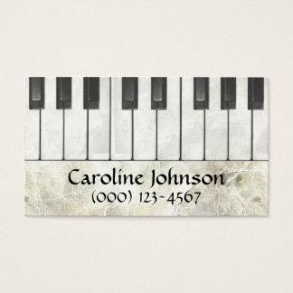 ピアノの教師のミュージシャンの名刺 名刺