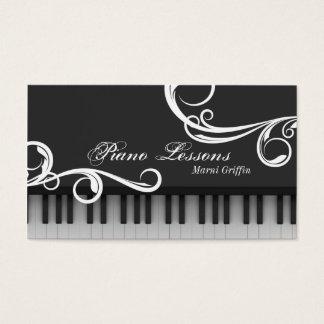 ピアノの教師のレッスン名刺のエレガントな渦巻 名刺