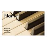 ピアノの教師の名刺