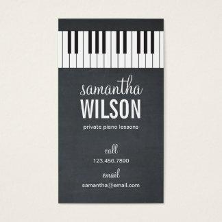 ピアノの教師の名刺 名刺
