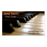 ピアノの教師フリー音楽個人教師のプロフェッショナル ビジネスカードテンプレート