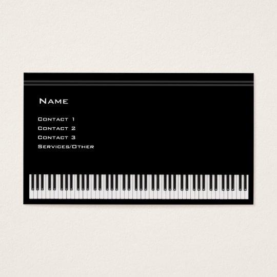 ピアノの教師 名刺
