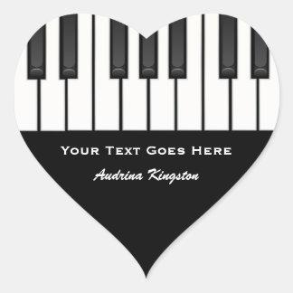 ピアノはステッカーを調整します ハートシール