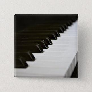 ピアノはボタンピンを調整します 5.1CM 正方形バッジ