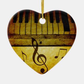 ピアノはヴィンテージを調整します セラミックオーナメント