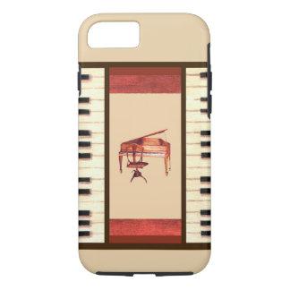 ピアノは旧式なピアノ及び椅子のiphoneの場合を調整します iPhone 8/7ケース