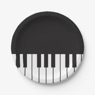 ピアノは紙皿を調整します ペーパープレート