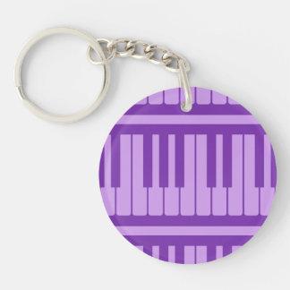 ピアノは紫色のラベンダーパターンを調整します キーホルダー