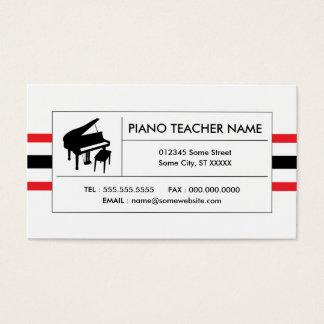 ピアノは縞で飾ります 名刺