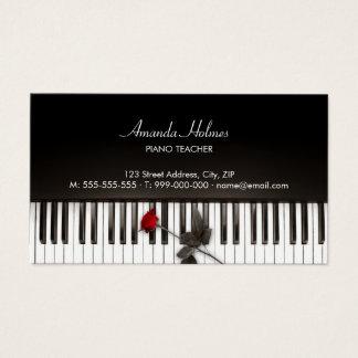 ピアノは赤いバラの音楽業界カードを調整します 名刺